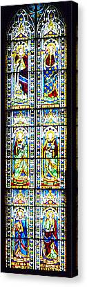 Stained Glass Window Of Duomo Santa Maria Del Fiore Canvas Print