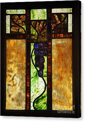 Stained Glass Window Canvas Print by Valerie Garner