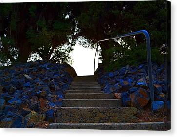 Canvas Print featuring the photograph Stair Way To Heaven  by Naomi Burgess