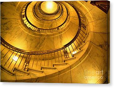 Stair Way To Justice Canvas Print by John S