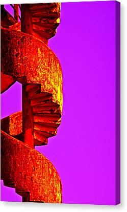 Canvas Print featuring the photograph Staircase Abstract by Dennis Cox WorldViews