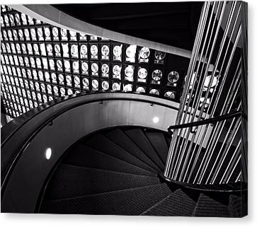 Staircase In Black And White Canvas Print by Dan Sproul