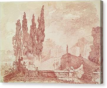 Staircase In The Gardens Of The Villa Deste, Tivoli Canvas Print