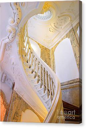 Canvas Print featuring the photograph Staircase In Wood by Michael Edwards