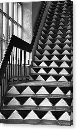 Canvas Print featuring the photograph Staircase Santa Fe New Mexico by Ron White
