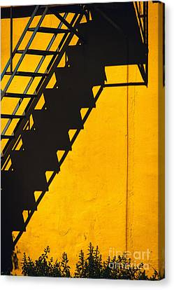 Canvas Print featuring the photograph Staircase Shadow by Silvia Ganora