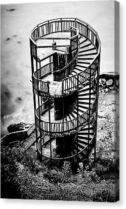 Spiral Staircase Canvas Print - Staircase To Nowhere by Aron Kearney