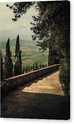 Staircase To Pienza Canvas Print by Clint Brewer