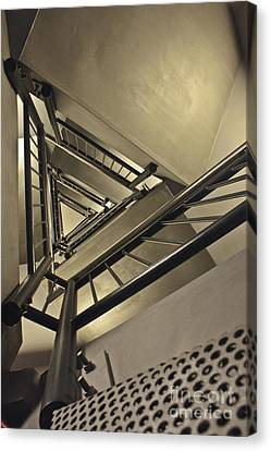 Canvas Print featuring the photograph Stairing Up The Spinnaker Tower by Terri Waters