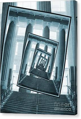 Stairs And Pillars Canvas Print by Phil Perkins