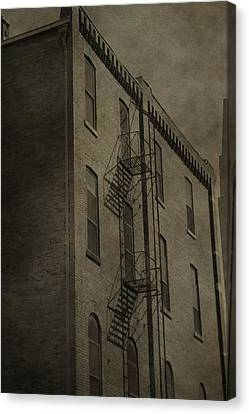 Fire Escape Canvas Print - Stairs And Shadows by Dan Sproul