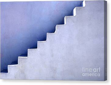 Stairs In Santorini Canvas Print by Bob Christopher