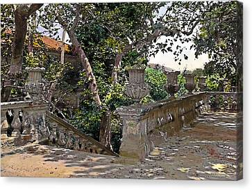 Stairs In Summer Shade Canvas Print by Terry Reynoldson
