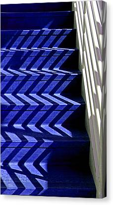 Stairs Of Blue Canvas Print by Christopher McKenzie