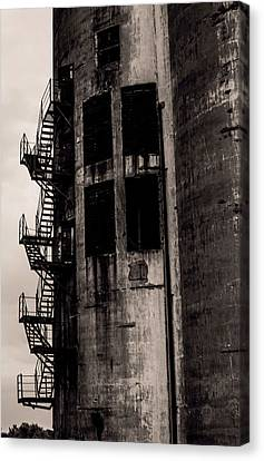 Old Feed Mills Canvas Print - Stairs To Nowhere by Jim Markiewicz