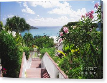 Stairs To Paradise Canvas Print by George Oze