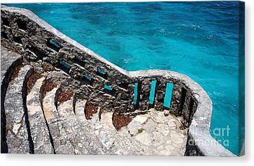 Stairs To The Sea Canvas Print