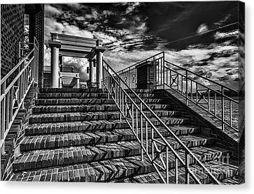 Stairway At Montgomery Museum Of Fine Arts Canvas Print