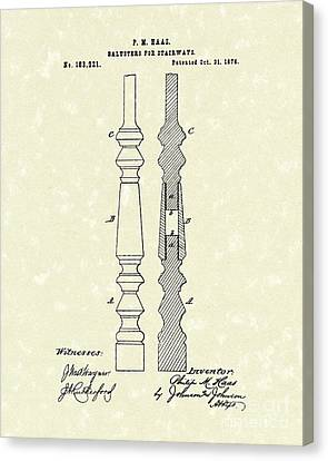 Stairway Baluster 1876 Patent Art Canvas Print by Prior Art Design