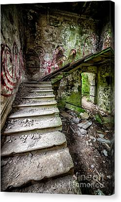 Stairway Graffiti Canvas Print by Adrian Evans