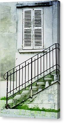 Canvas Print featuring the photograph Stairway In Paris by Mary Bedy