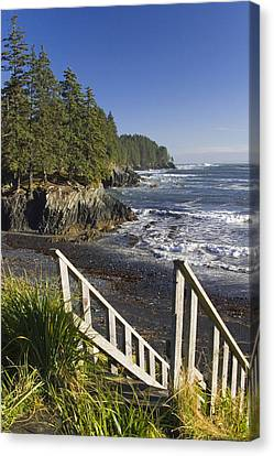 Stairway Leading Down To Beach  Mill Canvas Print