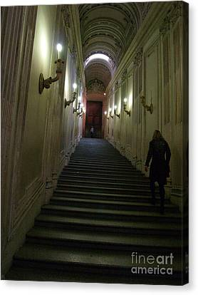 Canvas Print featuring the photograph Stairway  by Robin Maria Pedrero