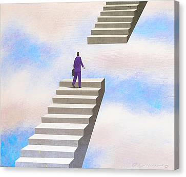 Stairway Canvas Print by Steve Dininno