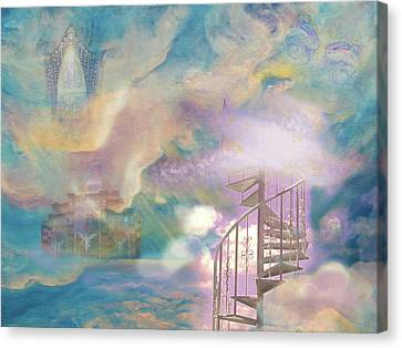 Stairway To Heaven Canvas Print by Anne Cameron Cutri