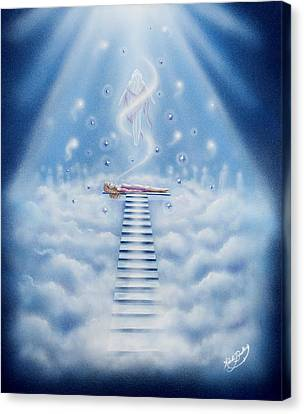 Stairway To Heaven Canvas Print by Nickie Bradley