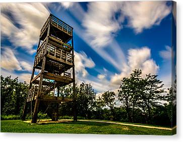 Stairway To Heaven Canvas Print by Randy Scherkenbach