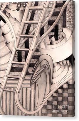 Stairway To.... Canvas Print by John Stuart Webbstock