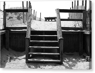 Stairway To Lbi Heaven Canvas Print by John Rizzuto