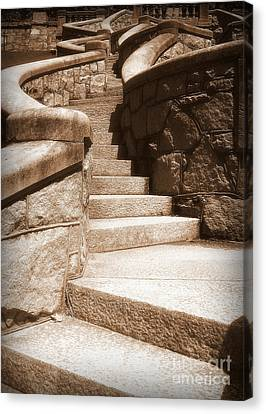 Stairway To Canvas Print by Nancy Dole McGuigan