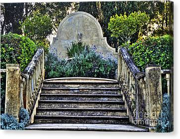 Stairway To Nowhere Canvas Print by Kaye Menner