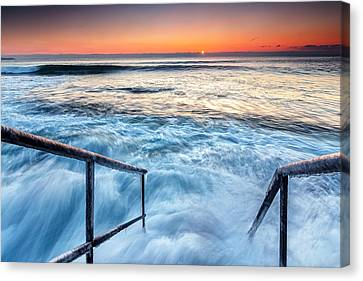 Stairway To Sea Canvas Print by Evgeni Dinev