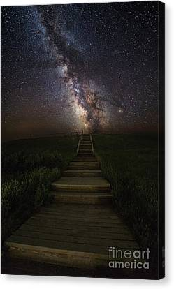 Milky Way Canvas Print - Stairway To The Galaxy by Aaron J Groen