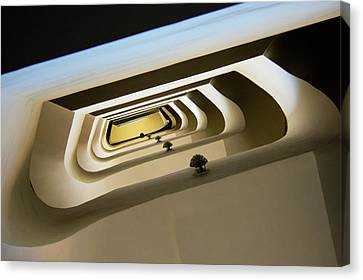 Helical Canvas Print - Stairwell by Mark Williamson