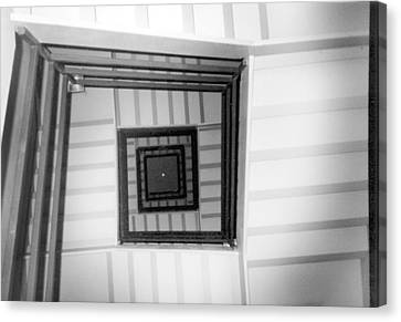 Canvas Print featuring the photograph Stairwell by Tarey Potter