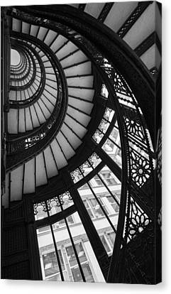 Stairwell The Rookery Chicago Il Canvas Print by Steve Gadomski