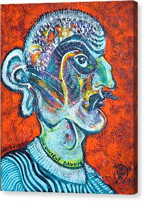 Stalinist With Big Ear Canvas Print by Ion vincent DAnu