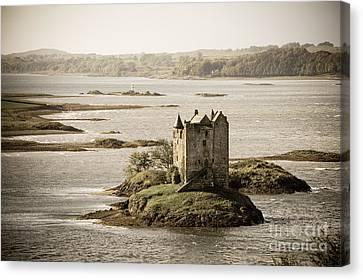 Stalker Castle Vintage Canvas Print by Jane Rix