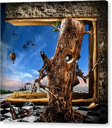 Rooted Canvas Print - Stalkers by Alessandro Della Pietra
