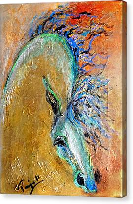 Stallion In Gold Canvas Print