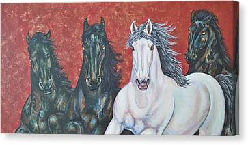 Stallions Of Venice Canvas Print
