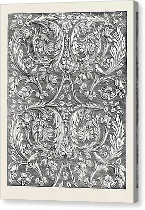 Stamped Leather Hangings Canvas Print by English School