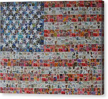 Stamps And Stripes Renegade Colony Canvas Print by Gary Hogben