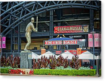 Stan Musial Statue At Busch Stadium St Louis Mo Canvas Print by Greg Kluempers