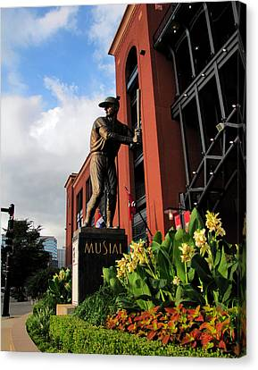 Canvas Print featuring the photograph Stan Musial Statue by John Freidenberg