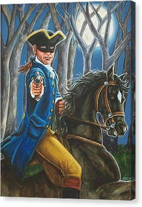 Stand And Deliver Canvas Print by Beth Clark-McDonal